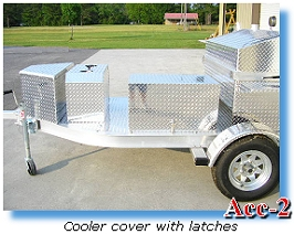 Cooler cover with latches