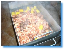 Cooking up a Low Country boil - a Southern specialty