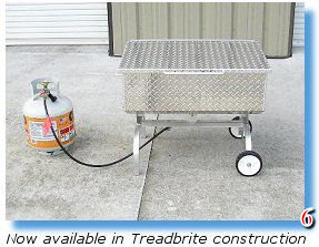 The stainless steel Steamer is available in Treadbrite