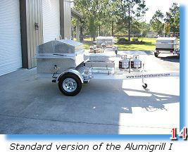Deluxe barbecue grill trailer