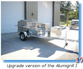 Barbecue trailer grill with optional oyster steamer
