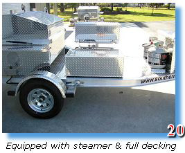 Decking on barbecue trailer grill